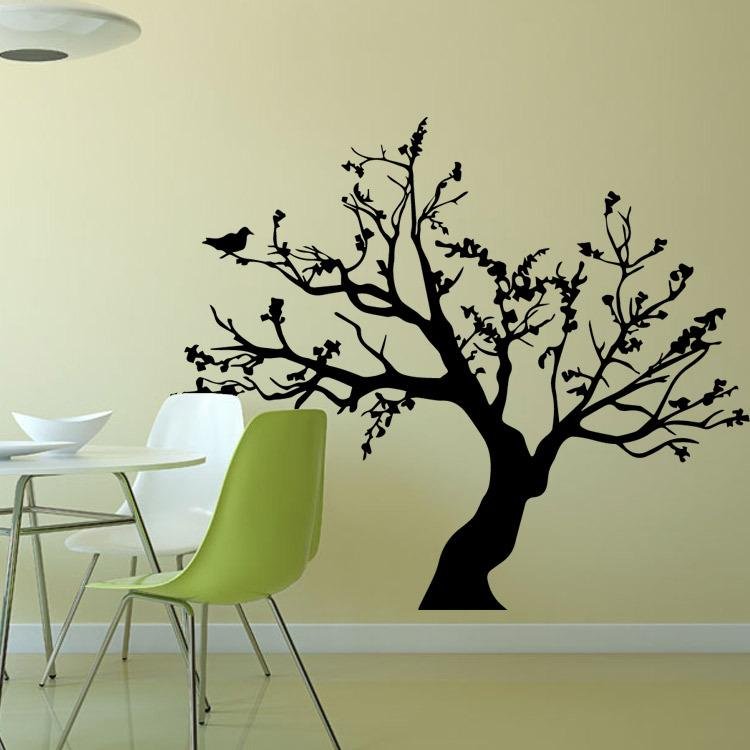 Black Caving Out Cutout Removable Mural Wall Stickers Wall Decal For Home  Decor Big Tree Bird Wall Sticker Wall Accents Decals Wall Accents Stickers  From ... Part 96