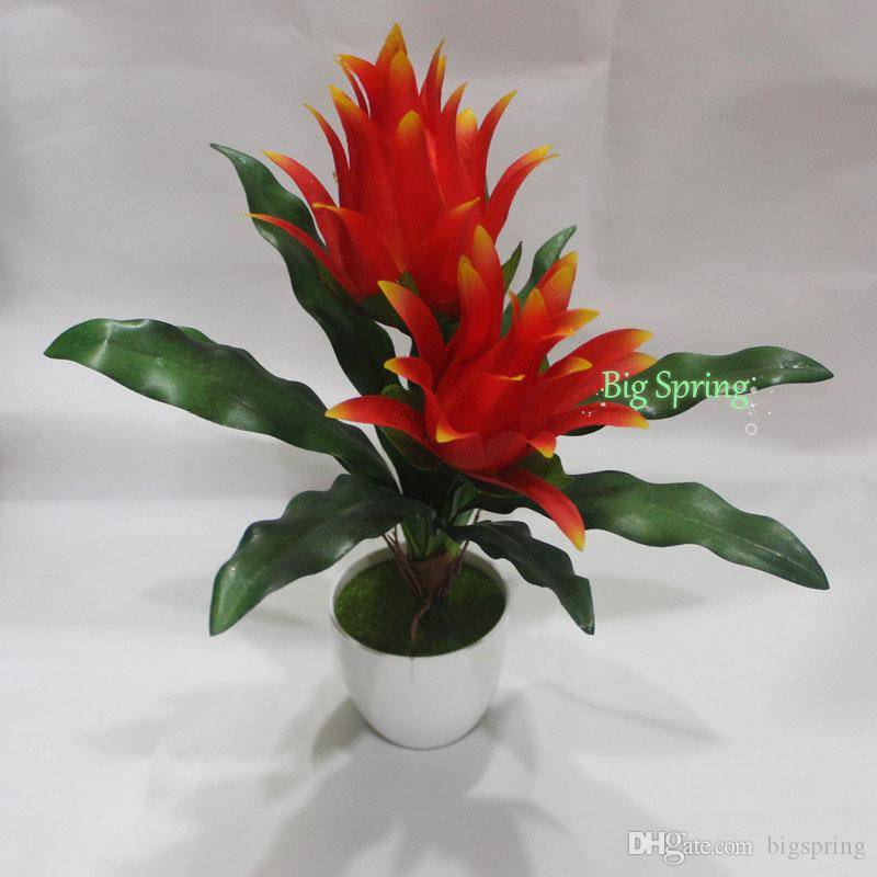 with plastic flowerpot tree artificial fake plants potted dragon fruit pitaya yard indoor outdoor home shop restaurant decor natural ficus