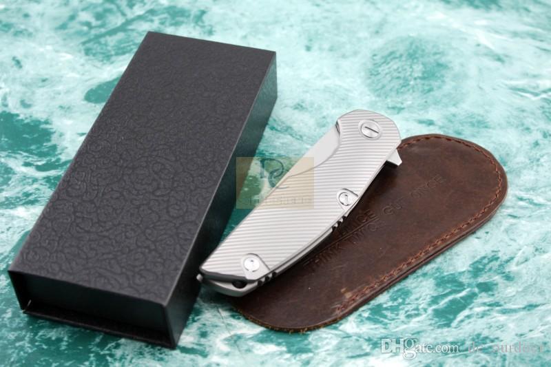 Shirogorov modelo 111 SiDiS Tactical plegable Cuchillos Flipper D2 hoja mango de titanio Supervivencia al aire libre Cuchillo que acampa herramientas EDC