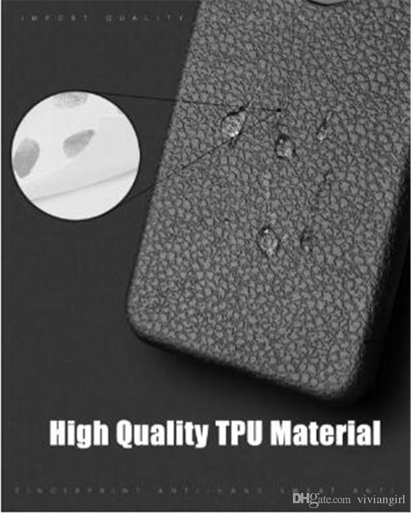 lignes de cuir de luxe iPhone pour iPhone X 8 8plus 7 7plus 6 / 6s 6plus / 6s, plus anit-empreintes digitales anti-choc TPU pour la livraison gratuite DHL