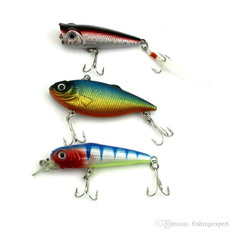 Mixed Minnow Baits Suits VIB Rattlin Fishing Lure Popper Fishing Baits 29g Plastic Lifelike Hard Baits for Saltwater