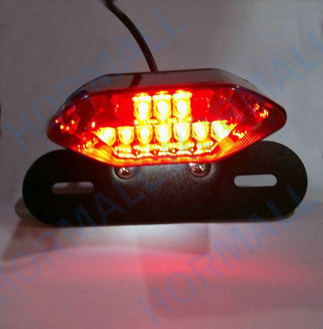 الصمام دراجة نارية الذيل ضوء لوحة ترخيص حامل جبل 3 in1 الفرامل الذيل ضوء ل ATV DIRT الدراجة المروحية