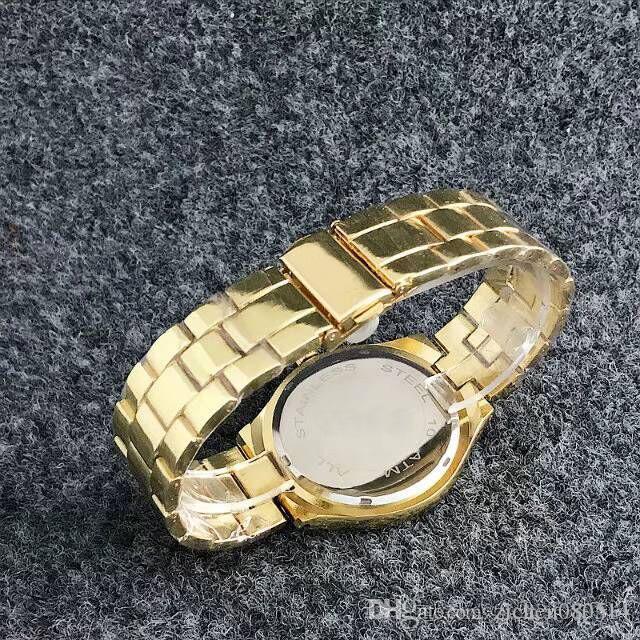 Mode Marke Honigbiene Biene Stil Frauen Mädchen Stahlband Quarz-Armbanduhr GU24