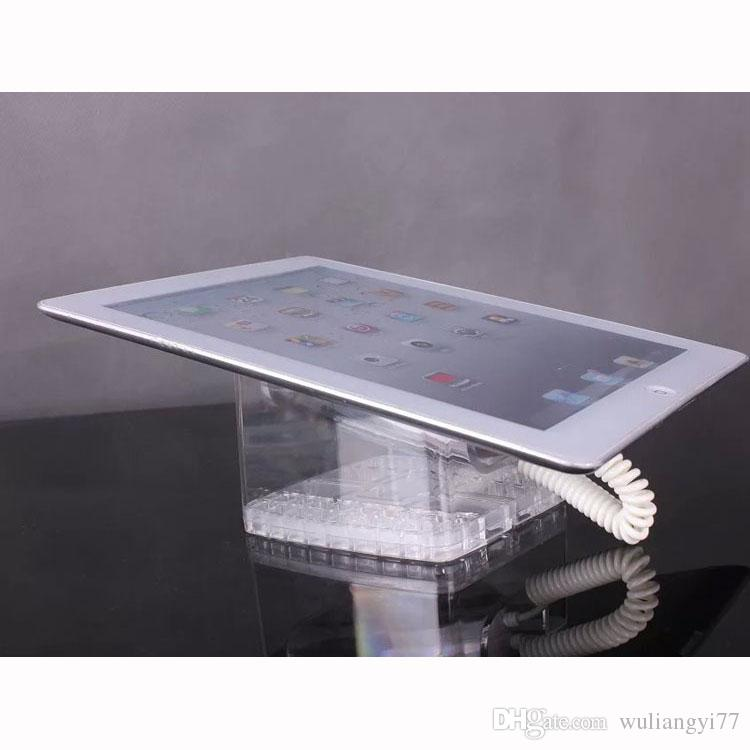 Crystal clear transparent mobile phone security Acrylic display stand holder bracket for cell phone tablet PC anti-theft