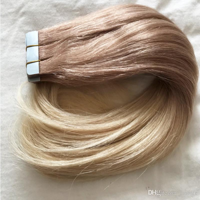 Human Hair Tape In Extensions 100g Hot Sale Balayage Color Hair