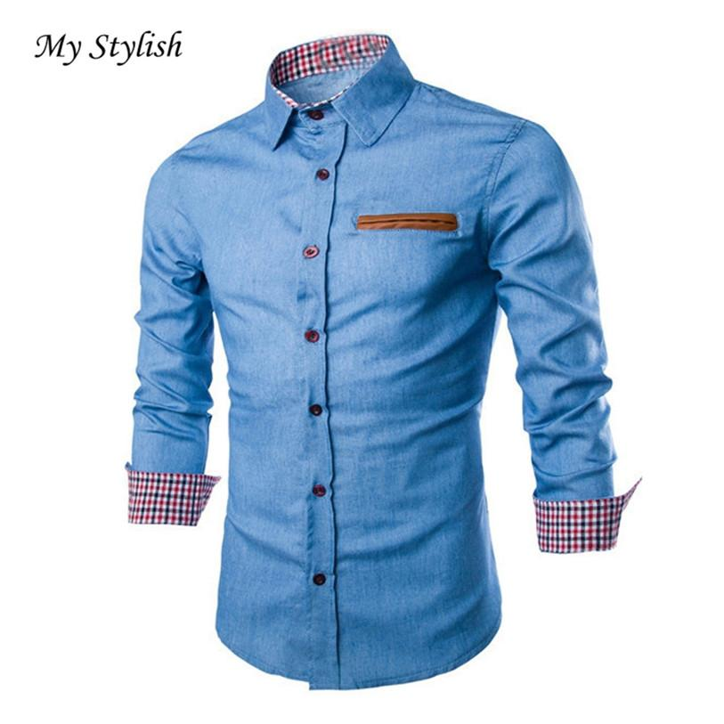 f88ec05c 2019 Wholesale Luxury Mens Casual Stylish Slim Fit Long Sleeve Casual  Formal Dress Shirts Tops Male High Quality Hot Sale 2017 Brand New Jan 5  From Charle, ...