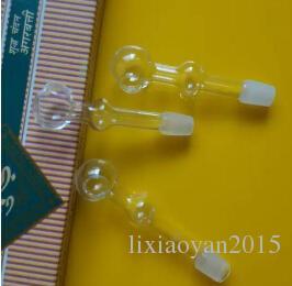 nouveau verre transparent dépoli double bulle bouche droite pot de combustion