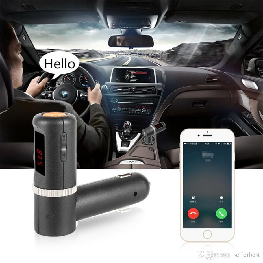 BC08 2.1A*2 4.2A MP3 Player Car kit FM transmitter Bluetooth Handsfree Auto Wireless FM Radio Adapter with 2 Port USB Charger