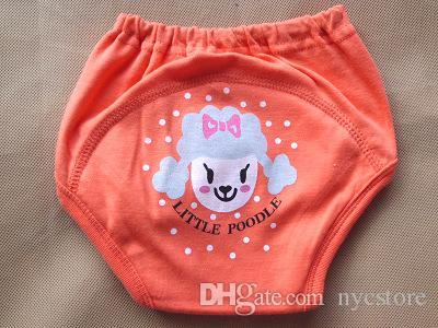 4 katmanları karikatür bebek eğitim pantolon su geçirmez bezi pantolon lazımlık yürümeye başlayan külot yenidoğan iç çamaşırı Yeniden pantolon köpek ayı kurbağa 8 tasarımlar