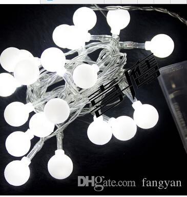 2.5M20led luces intermitentes luz de la batería luces de la secuencia de la cereza luces al aire libre impermeables dispuestas fiesta de cumpleaños bola de luz