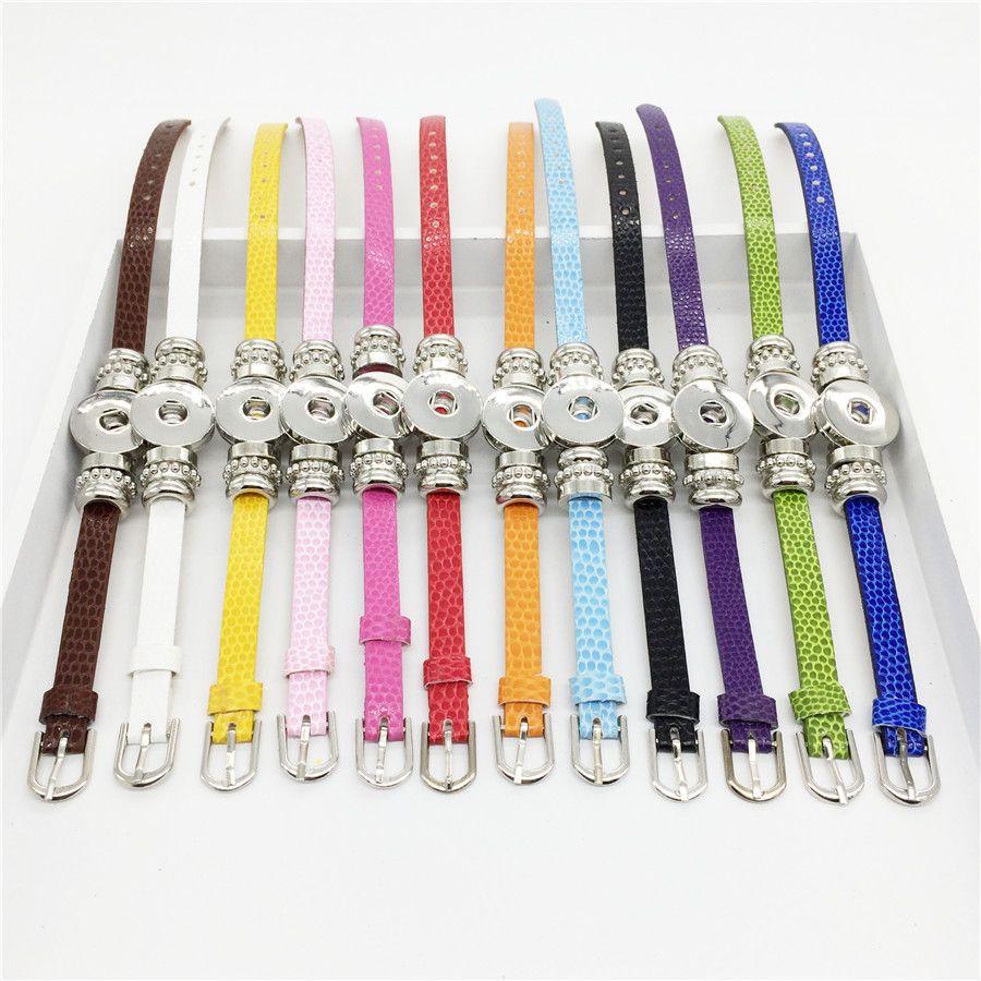 Großhandelsart und weise 8MM DIY fängt Knopf-Schlange-Armband-Armband-Armband-neues Art-Armband an, das passende 1820MM Snaps-Schmucksachen WB64 passt