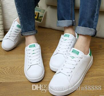 2018 Red And Black Green Colors Stan Smith Shoes For Men And Women Fashion  White Sneakers Casual Sport Leather Lovers Shoes Zapatos Mujer 36 44 From  ...