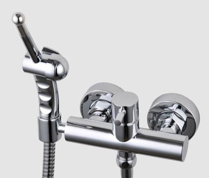 kupfer chrom badezimmer bidet dusche sprayer Kalt andHot wasser Toilette Bidet Shattaf handheld Dusche mit Messing bidet wasserhahn mischventil BD388