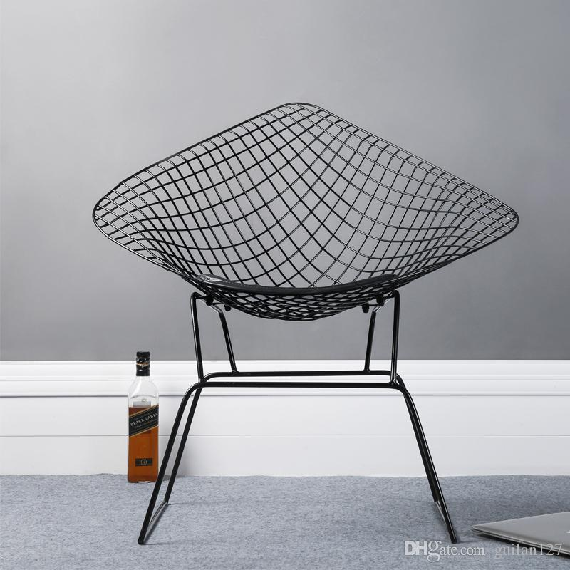 2018 Modern Design Harry Bertoia Diamond Steel Wire Diamond Loft Metal Chair  Pad Modern Diamond Wire Chair Leisure Cafe Chair From Guilan127, ...