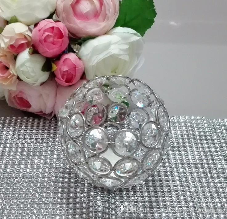 Fedex/Ems Free Ship, Glass Crystal Votive Candle Holder for wedding