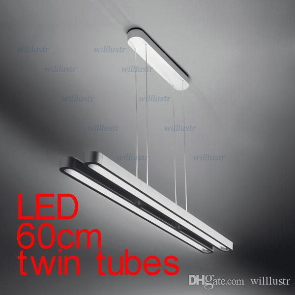 Luminaires suspendus LED Lustre suspension moderne éclairage suspension lampes jumelles tubes LED 60cm