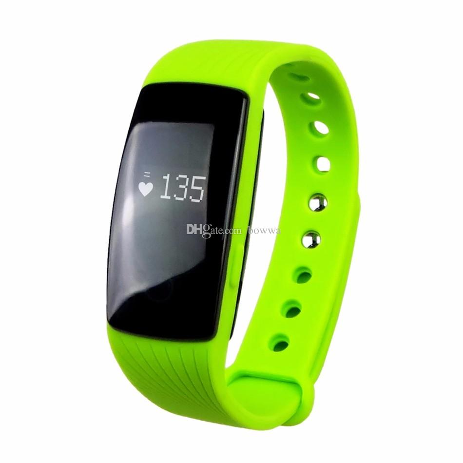 ID107 Bluetooth Smart Bracelet smart band Heart Rate Monitor Wristband Fitness Tracker remote camera for Android iOS Free DHL Shipping