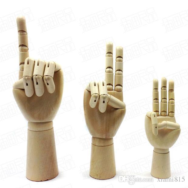 Hand Made Wooden Hands Model Art Painting Tools Puppet Hand of Men Women Kids 3 Sizes Novelty Gifts Free Shipping