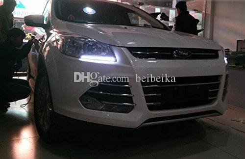 Дневные ходовые огни Auto-Tech, световодный светодиодный комплект DRL для Ford ESCAPE / Kuga 2013 2014 2015