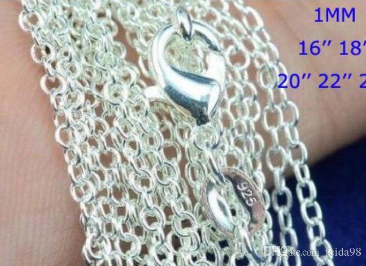 Bestpreis ! 100 teile / los 925 Sterling Silber Rolo