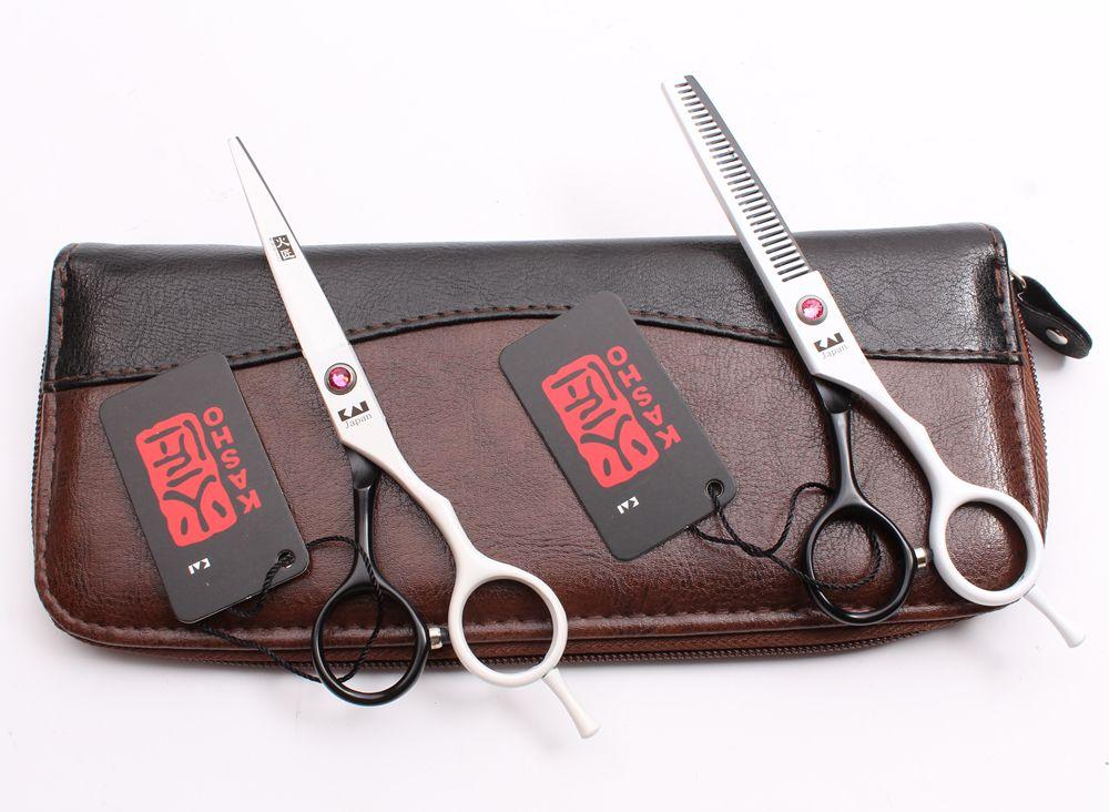 "H1013 5.5"" 16cm Japan Steel Kasho Professional Human Hair Scissors Barbers' Hairdressing Scissors Cutting Thinning Shears Salon Style Tools"