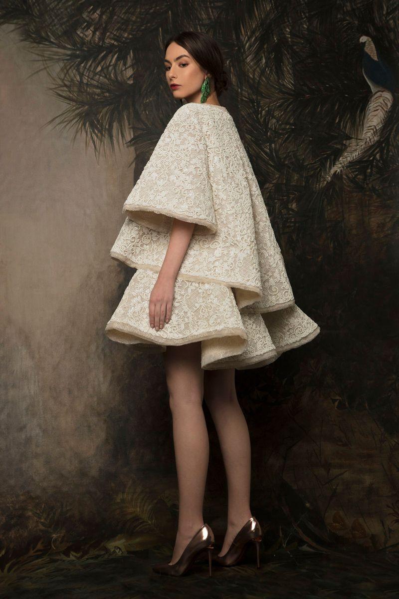 New Fashion Two Piece Full Lace Short Evening Dress Jewel Half Sleeve Homecoming Dress Short and Elegant Bridal Dress