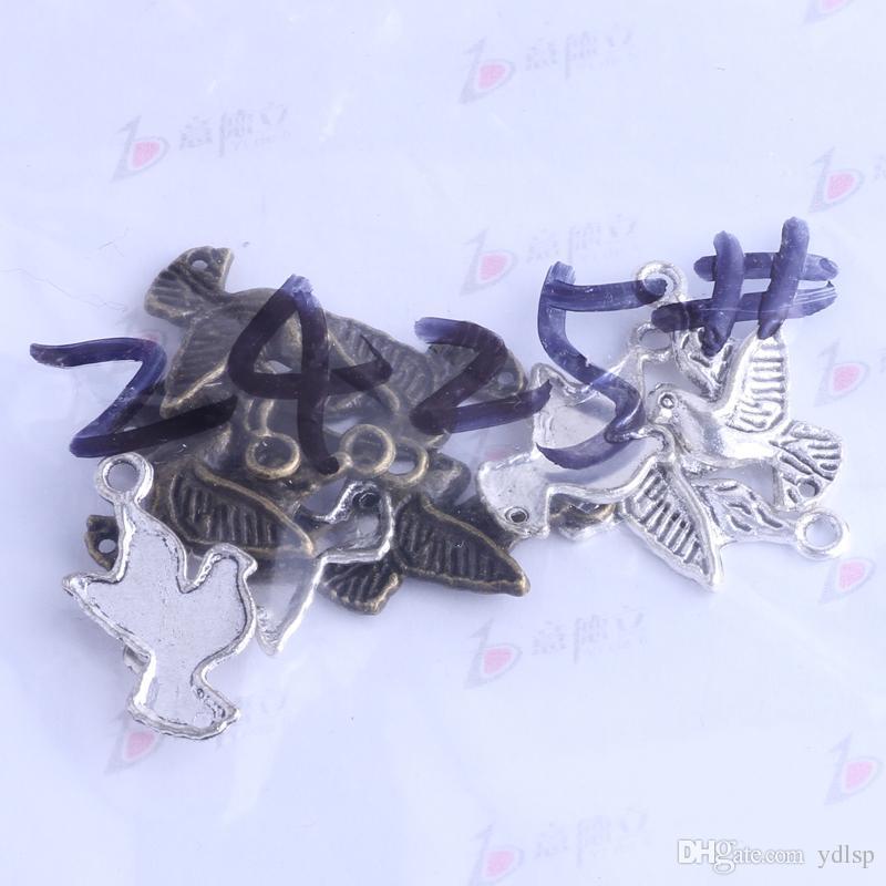 Argento antico / bronzo uccello colomba Charms fai-da-te vintage ciondolo gioielli fai da te fare 400 pz / lotto 2425
