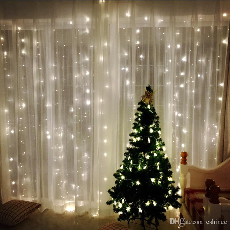 4.5M X 3M 300 LED Icicle String Lights Christmas Xmas Fairy Lights Outdoor  Home For Wedding/Party/Curtain/Garden Decoration Christmas Light Deer C  Lighted ... - 4.5M X 3M 300 LED Icicle String Lights Christmas Xmas Fairy Lights
