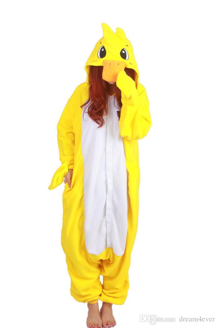 SS Hot Unisex Adult Duck Pajamas Animal Onesie Cosplay Costume Pyjamas Sleepsuit Unisex Adult