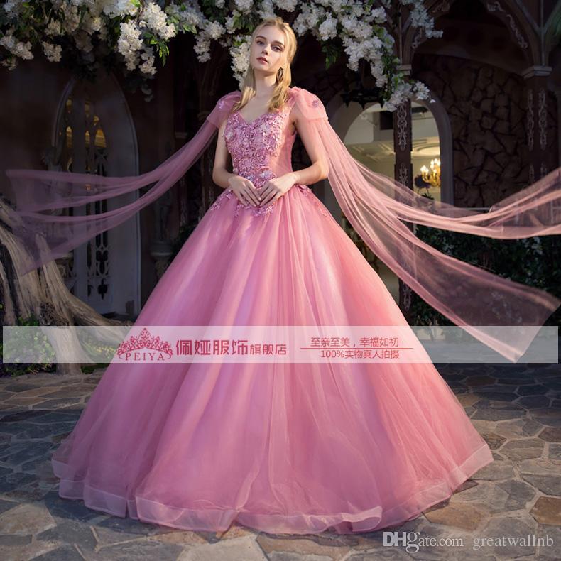 Compre 100% Real Bean Bordado De Color Rosa Rebordear Hombro Arco ...