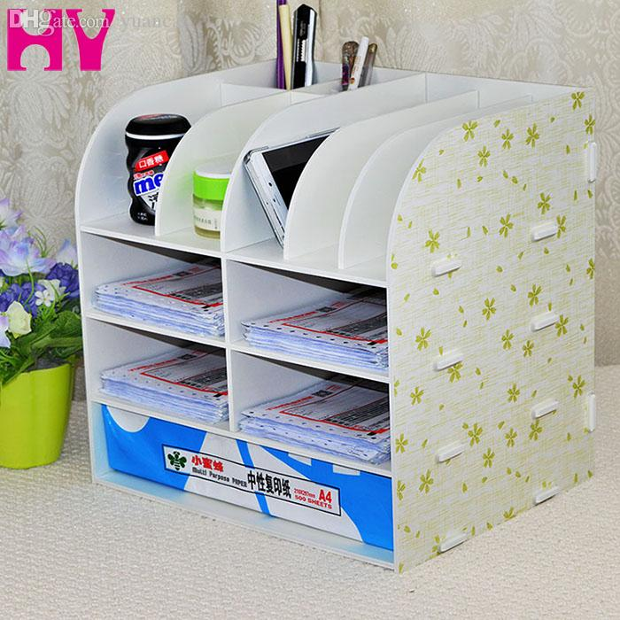 Whole Office Supplies Desk Accessories Doent File Cabinet Large Wooden Set Desktop Storage Box For Organizer Eyebrows Wool Tape