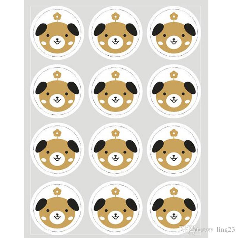 Cute 20sheet Label Sealing Paste Sealing Sticker Baking Cookies Packaging Decorate DIY Sticky