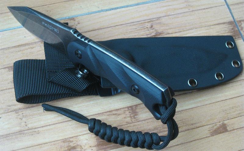 Trasporto libero 8 '' NUOVO D2 acciaio Stone Wash 6MM lama G10 pieno di linguetta coltello da caccia VTH64