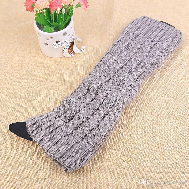 solid twist Leg Warmers Ballet Dance Warm up knitted Gaiters Boot Cuffs Stocking Socks Boot Covers Leggings Tight in stock