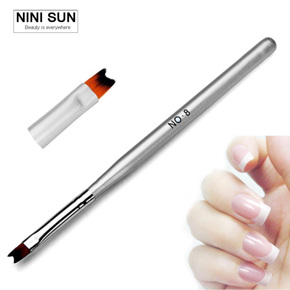 Wholesale Half Moon French Nail Gels Brush Pen Polish Nail Art ...