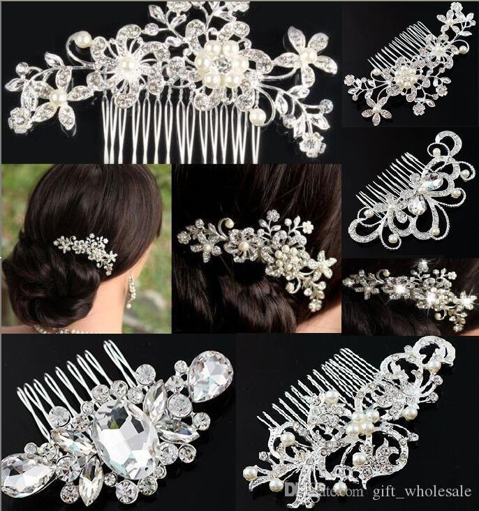 0388bb4276c 2016 Jewelry Gift Clear Rhinestone Bride Bridesmaid Wedding Hair Accessories  Prom Party Sell Well Fashion Crystal Hair Comb Bride Wedding Hair  Accessories ...