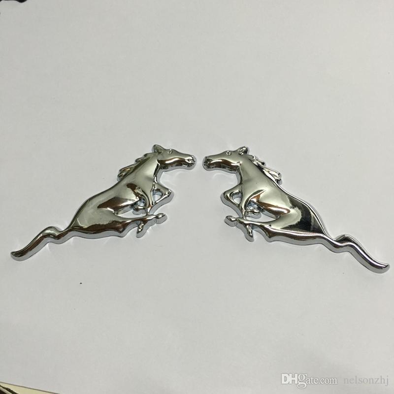 carro metal cavalo logotipo emblem emblema etiqueta tamanho 75x28 +/- 1mm cor prata / preto / ouro apto para os EUA carros ford series mustang e outros modelos