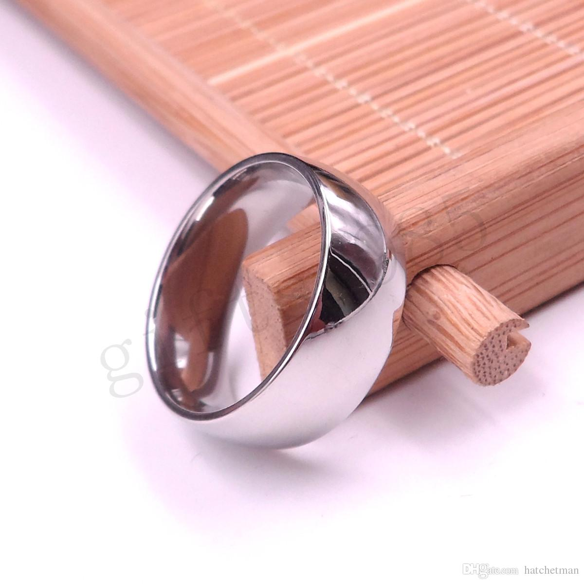 Cool Fashion Ring Stainless Steel Highly Polished Inside And Outside ...