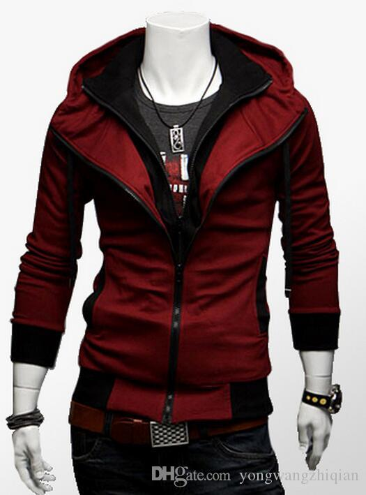 The spring and autumn season 2017 Men XL Cardigan Sweater Hoodie fat thin cotton Mens fat leisure sports coat