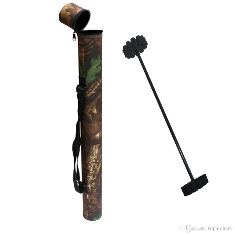 Охота стрельба из лука стрелка колчан камуфляж легкий вес носимых Оксфорд ткань держатель 12 шт. стрелы + внутренняя защита стрелки стойки