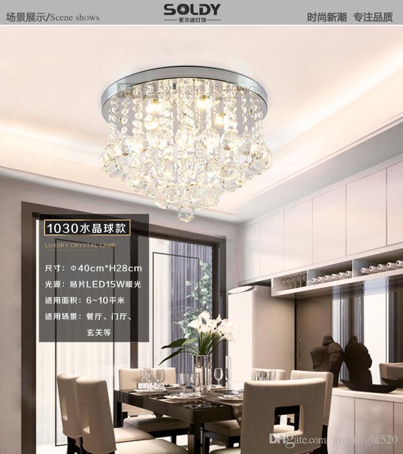 Круглый K9 Crystal потолочное освещение Droplights Silver Chrome потолка Подвеска Свет Люстра Место кристалл лампы свет разнообразие # 13