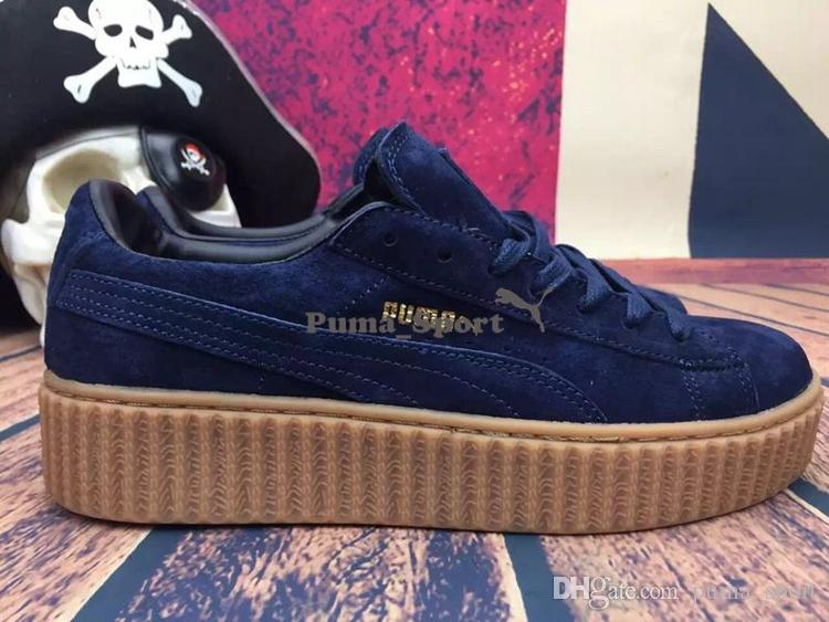 newest 57447 c6742 puma shoes rihanna blue