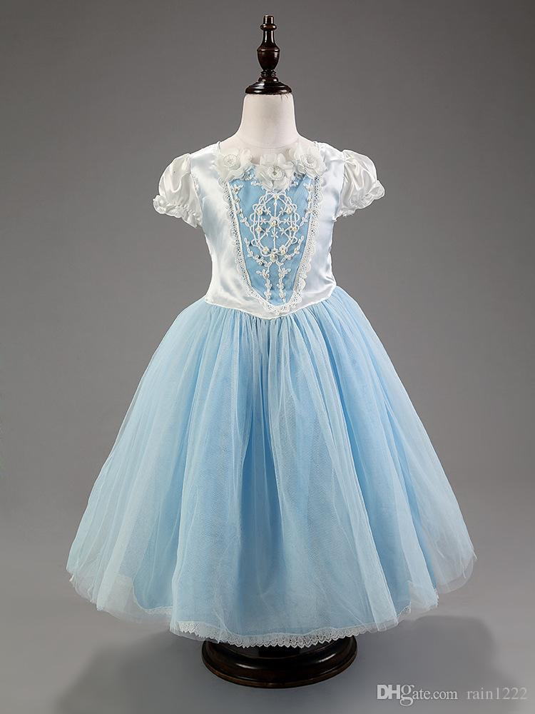 New Girl Princess Cendrillon Cosplay Dress With Cape Children Christmas Party Costumes Show Dresses Kids Baby Special Occasions Formal Dress