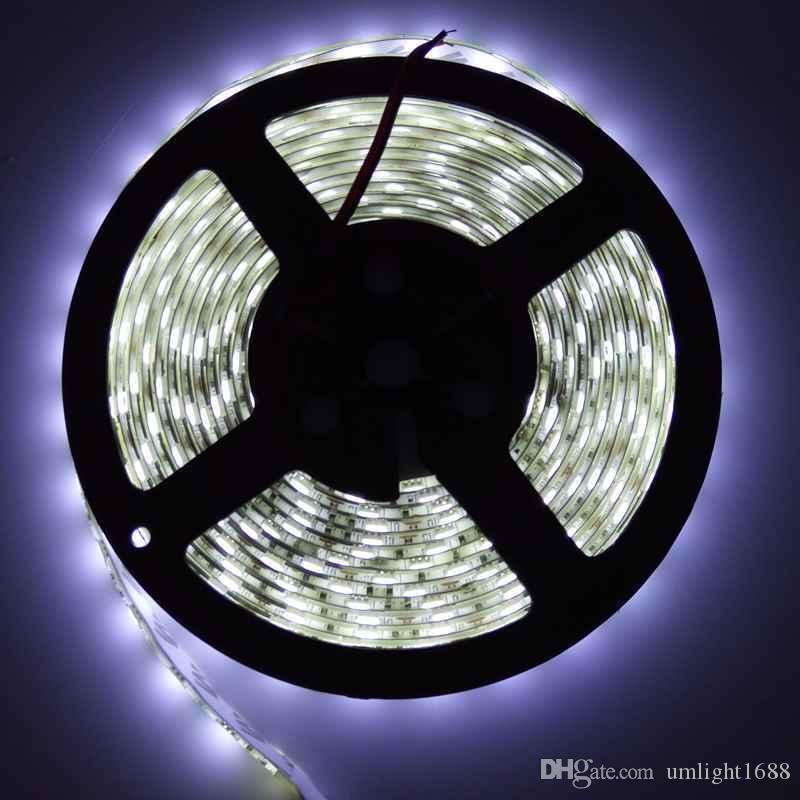 wasserdichtes IP65 300 LED 5M 5050 SMD einzelnes Farbe rgb Flexibles geführtes Streifenlicht kühles Weiß warmes Weiß 60leds / M geführtes Band