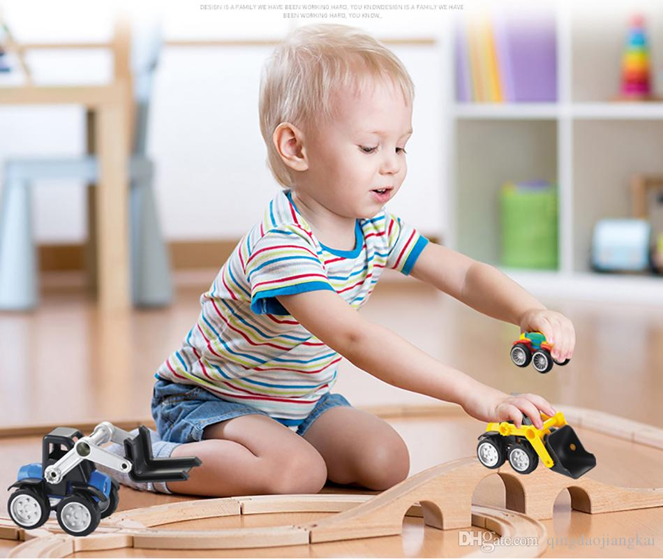 Beiens 3D Magnetic Building Blocks Model Building Kids Toys Enlighten Bricks Educational Magnetic Engineering Vehicles Toy