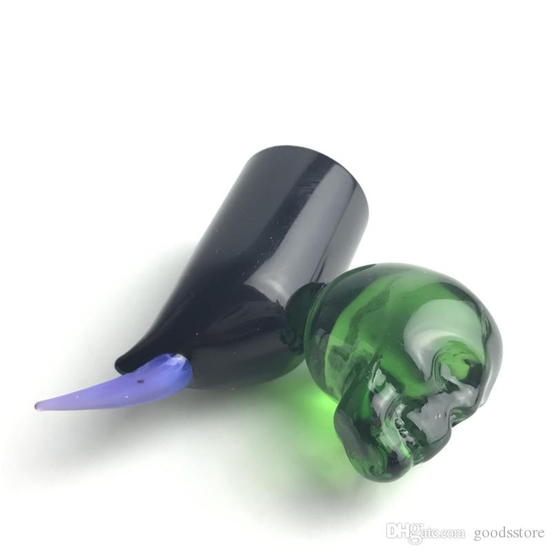 Glass Dero Fumo Nail Dabber Wax DAB Tool Tool Narghilè Variopinto Pyrex Pyrex Skull DABS Strumenti al quarzo Banger Nails Tubi d'acqua