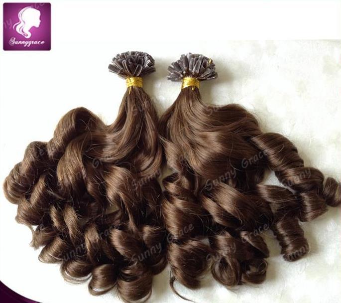 18 4 Pre Bonded Hair U Tip Keratin Glun Nail Tip Hair Extension