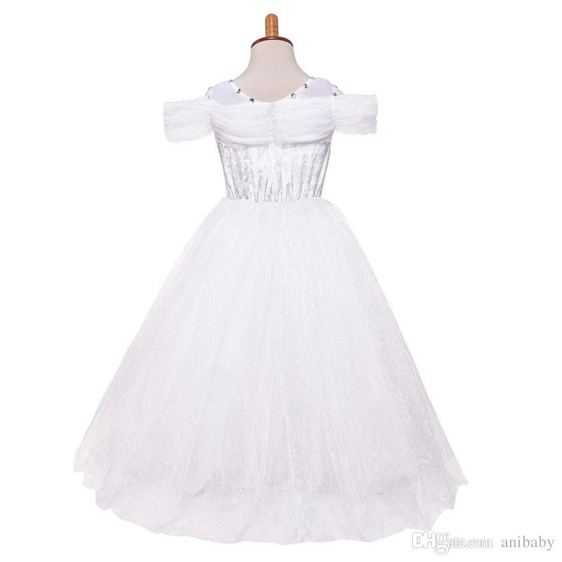 Baby Girls butterfly lace Dress Christmas Tutu princess Dresses Kids snowflake diamond Party Dress A08