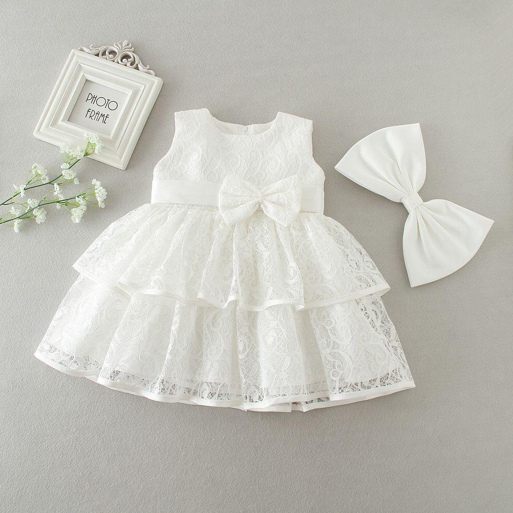 Großhandel Baby Spitzenweste Kleidkinderspitze Gaze Stickereikleid ...