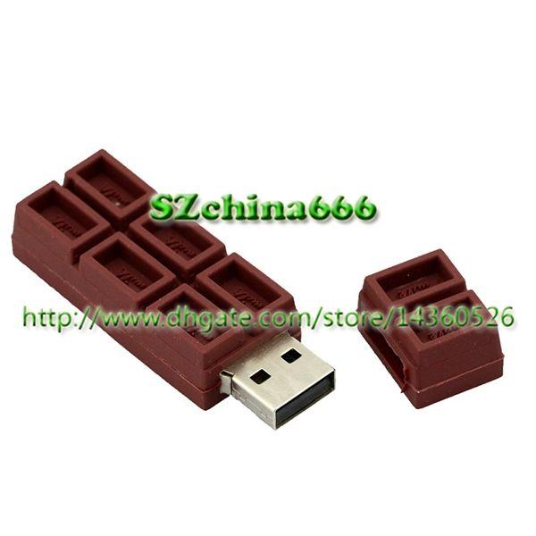 Coeur Chocolat Clé USB Clé Saint Valentin Cadeaux Alimentaires Clé USB 8GB PVC Clé USB Clé USB 2GB 4GB 16GB